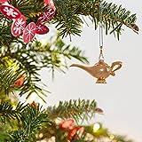 "Hallmark Keepsake Mini Christmas Ornament 2018 Year Dated, Disney Aladdin Genies Lamp Miniature, Metal, 0.8"""