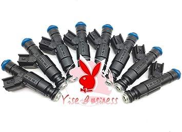 8 Pcs Fuel Injectors Fit For Mercruiser V8 350 MAG 5.0 4.3 6.2 885176 0280156081