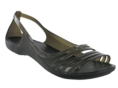 9b9820d66750 Womens Crocs Isabella Huarache Flexible Summer Flat Comfort Light Sandals  UK 4-9 (UK