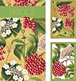 Entertaining with Caspari Bridge Playing Card Gift Set, Jumbo Type, Berry Chintz