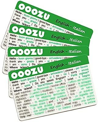 Paquete De 4 Tarjetas De Idioma Italiano De Ooozu Esencial