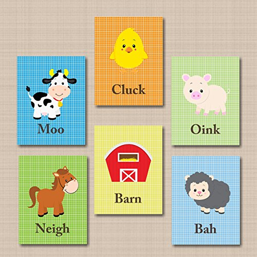 Farmhouse Décor,Animals Nursery Wall Ar - Barnyard Wall Art Shopping Results