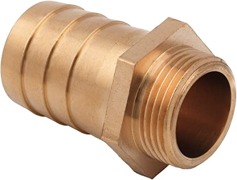 "Brass Hose Fitting Connector Connecting Hose Adapter Grade Hose Barb Barbed Hose Connects 3//4/"" Barb X 1//2/"" NPT Male End Super-Deals-Shop"