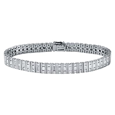 product bgby gold designers anita tennis ko baguette in detail diamond bracelet
