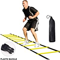 Kxuhivc Agility Ladder for Kids Teens Speed Agility Training Ladders with Carrying Bag 12-Rung Adjustable Jumping Step Rope Exercise Outdoor Athletic Physical Training Football Sports Drills