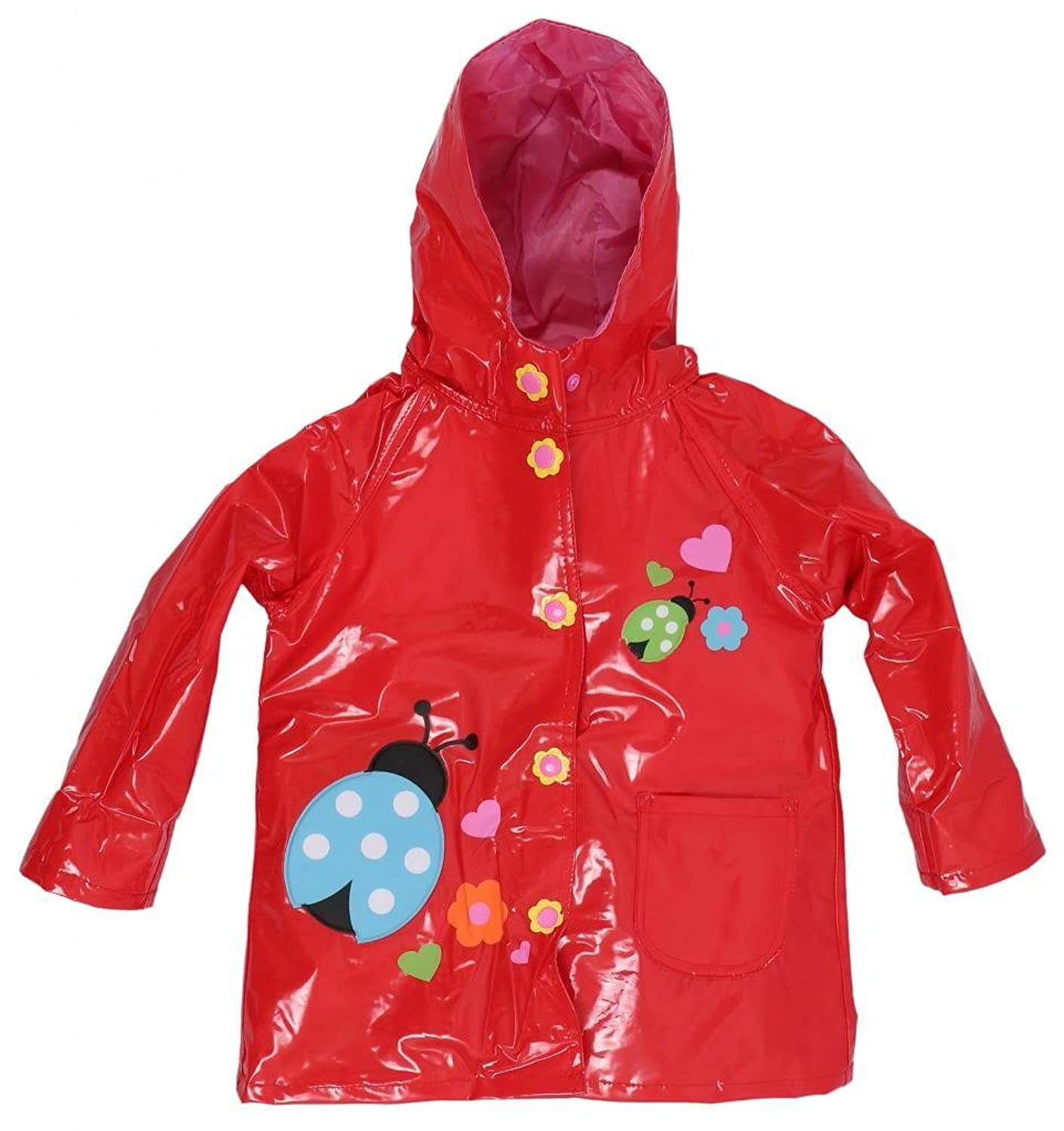 Wippette Girls Waterproof Lined Spring Summer Hooded Trench Raincoat Jacket