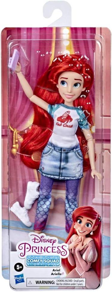 Disney Princess - Comfy Squad Muñeca Ariel (Hasbro, E9160EL2)