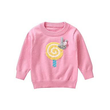 593bb2ffb04e Tronet Kids Boys Girls Winter Lollipop Rabbit Pullover Sweatshirt Tops Baby  Toddler Fashion Sweater (80