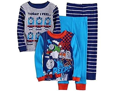 1c9304017f Boys Thomas And Friends Pajama Set - Long Sleeves And Pants - 4 Piece Set