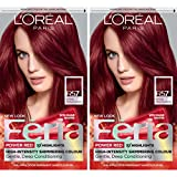 L'Oréal Paris Feria Multi-Faceted Shimmering Permanent Hair Color, R57 Intense Medium Auburn, 2 COUNT Hair Dye
