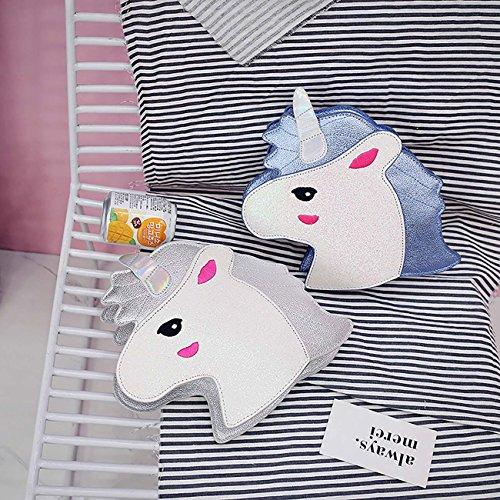 Unicornio Bandolera Bolso Bolso de THEE Cosméticos Bolsa Hombro Azul de fSwBq55Txn