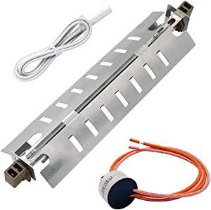Refrigerator Defrost Heater Kit WR51X10055,Temperature Sensor WR55X10025,High Limit Thermostat WR50X10068 Replacement for General Electric