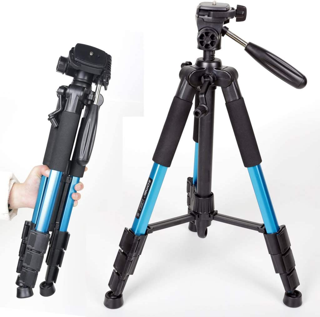 XIXI Travel Portable Tripods,Lightweight Aluminu Alloy Tripod Photo Photography Stand Quick Release Plates 1 4in Mounting Compatible DSLR SLR Video Camera with Carry Bag