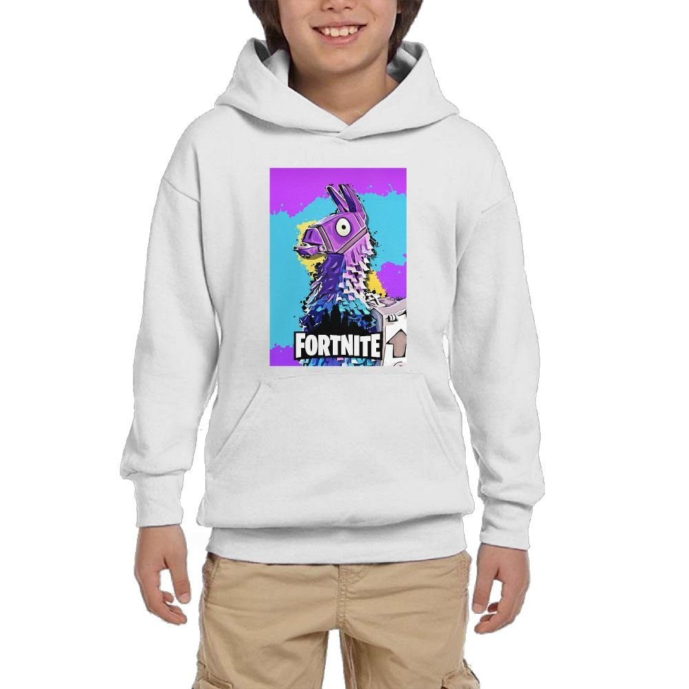Anzhuzhen Full Zip Hoodie, Cotton Sweater Llama for-tnite Hoodies for Boys Kids Teen Girls