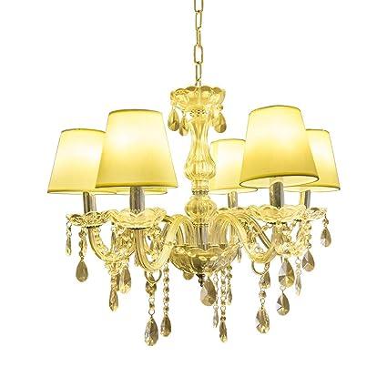Hengda® Lámpara Colgante Cristal, LED Clásico Lámpara de Araña Antiguo Lámpara de Techo, Para Comedor Baño Dormitorio del Salón