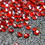red acrylic crystals - Acrylic Color Faux Round Diamond Crystals Treasure Gems for Table Scatters, Vase Fillers, Event, Wedding, Arts & Crafts (2000 pcs) (Dark Red)