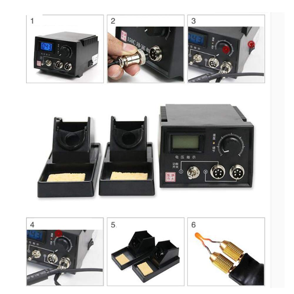 Wood Burning Kit 60-Watt Wood Burners with 20 Pyrography Wire Tips Adjustable Temperature Control for Wood Leather and Gourd (Dual Port+Digital Display) by Beacon Pet (Image #6)