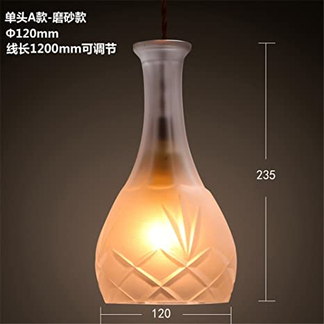 ShengYe Lámpara colgante de techo estilo rústico Botellas de vidrio candelabro de barra . araña araña