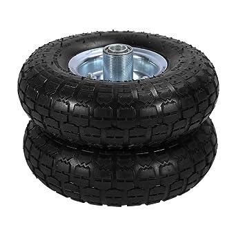 2pcs Ruedas de Goma para Neumático de Sack Truck Carretilla Carro Remolque Vagón Neumáticos de Goma