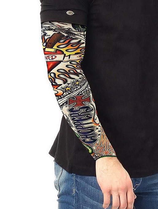 KJHSDNN Manguitos de Tatuaje Hombre Conjuntos de 6 Piezas Mangas ...