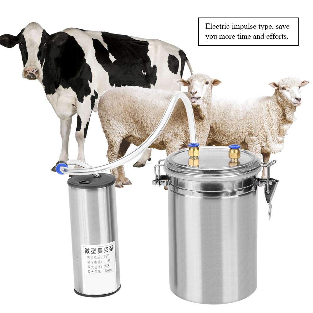 Yosoo 2L Electric Milking Machine Portable Stainless Steel Milker for Sheep Cows (110-240V)(Cows) by Yosoo (Image #4)