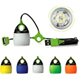 Atcose Chainable LED Tent Light, 5pcs Mini LED Outdoor Waterproof Lighting Lamp Portable USB Bulb Mini Adjustable Night Lantern for Camping Party or BBQ(5 Colors)