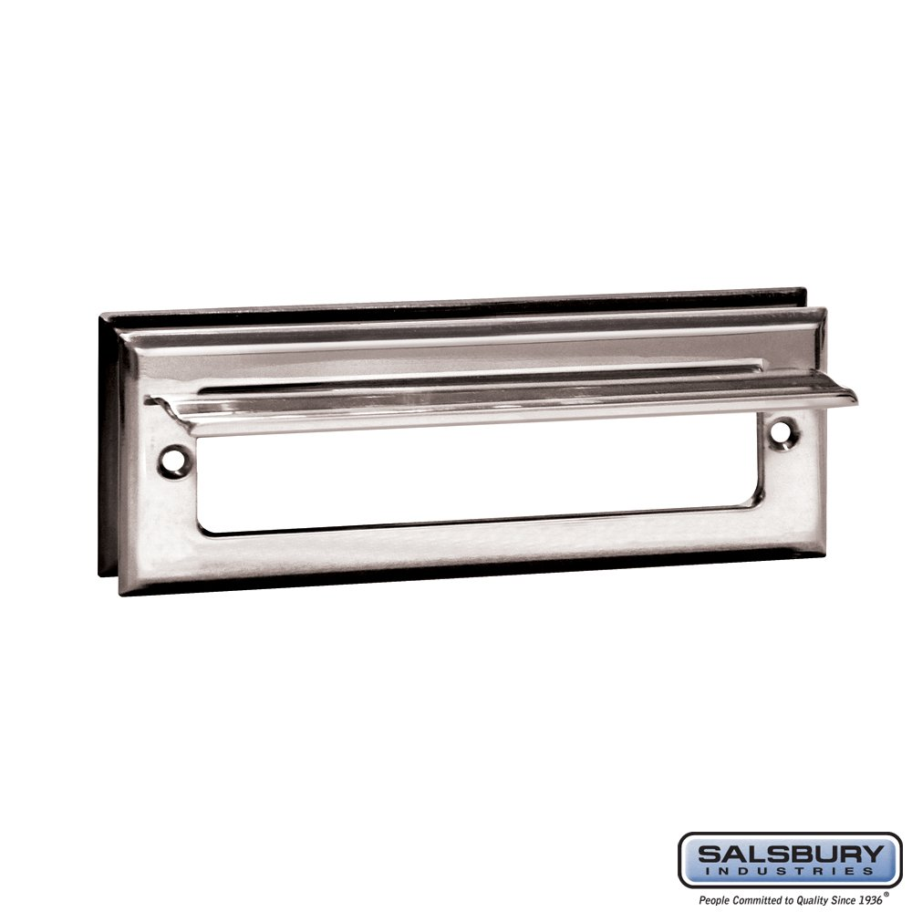 Salsbury Industries 4035C Mail Slot, Standard/Letter Size, Chrome Finish by Salsbury Industries (Image #2)