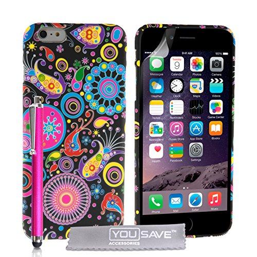 Yousave Accessories Silikon-Gel-Schutzhülle, Quallenmotiv, Mit Eingabestift, für iPhone 6Plus
