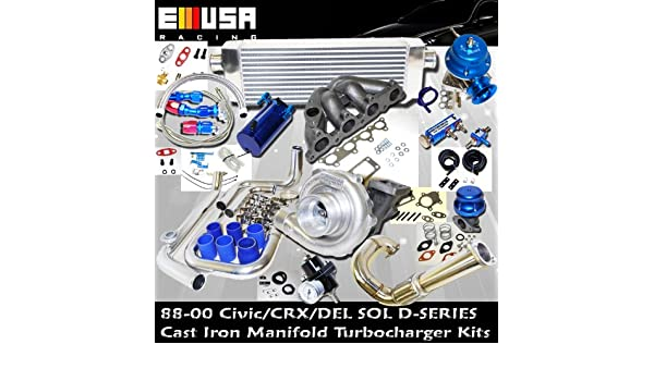 Turbo Kit D Series Honda Civic Del Sol DOHC D15 D16 88 - 00: Amazon.es: Coche y moto