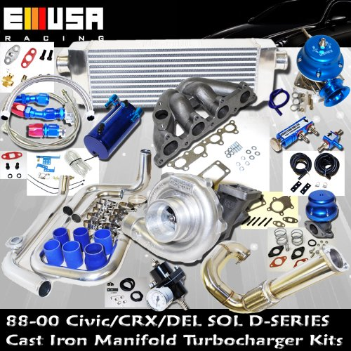 Turbo Kit D Series Honda Civic Del Sol DOHC D15 D16 - Del Turbo Sol