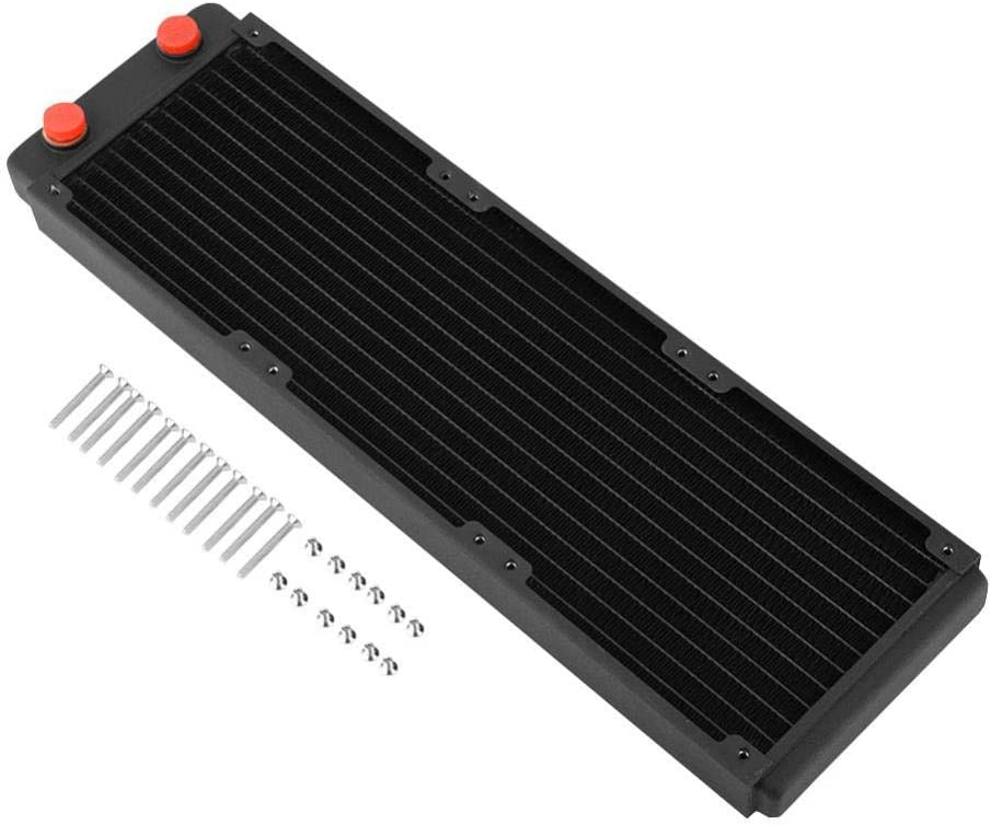 Computer Radiator - Copper Water Cooling Cooler for CPU Heat Sink - Liquid Heat Exchanger G1/4 Port with G1/4 Port(360mm)