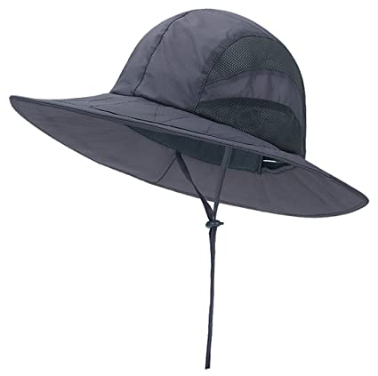 5bde8f35e70 Panegy Men Women Outdoor Boonie Hat Big Brim Quick Dry Mesh Sun Visor Cap  Summer Hunting