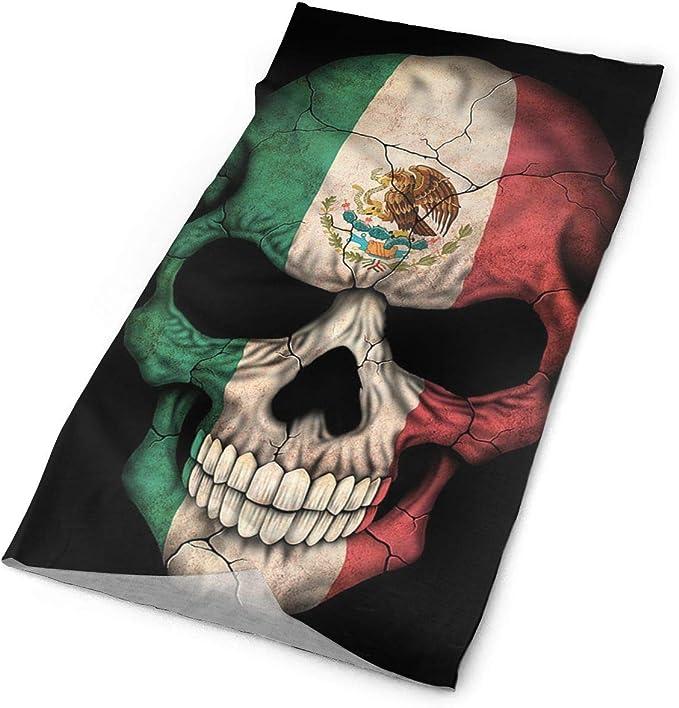 Pengyong Bandera Mexicana Calavera Unisex de Microfibra de Secado ...