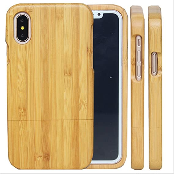 huge selection of 15fbe fe13e iPhone X Wood Cases - iPhone 10 Wooden Case Cover with Natural Real  Bamboo/Wood Material and Unique Design Handmade Carved Painting Like  Artwork for ...