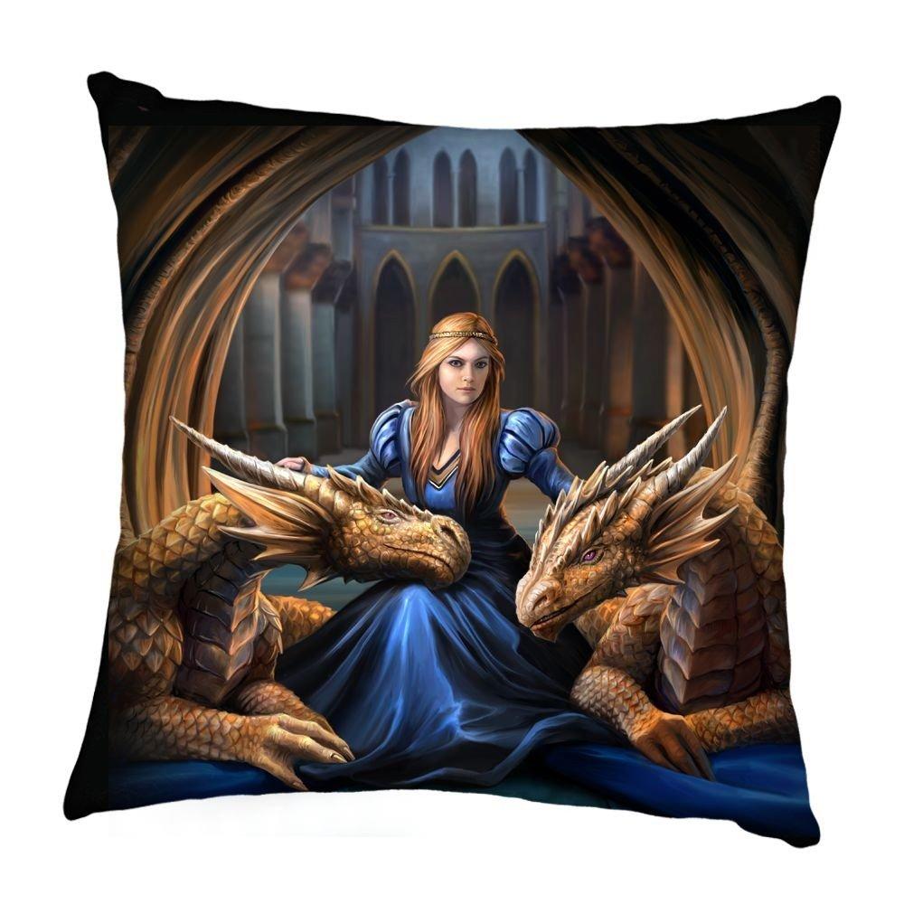 Cojín con dragones góticos