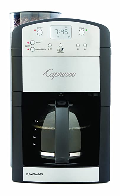 Capresso 464.05 CoffeeTeam GS Digital Coffee Maker with Conical Burr Grinder