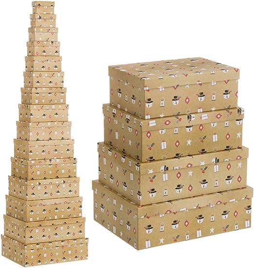 Cajas Beige de cartón de Navidad clásicas para decoración ...