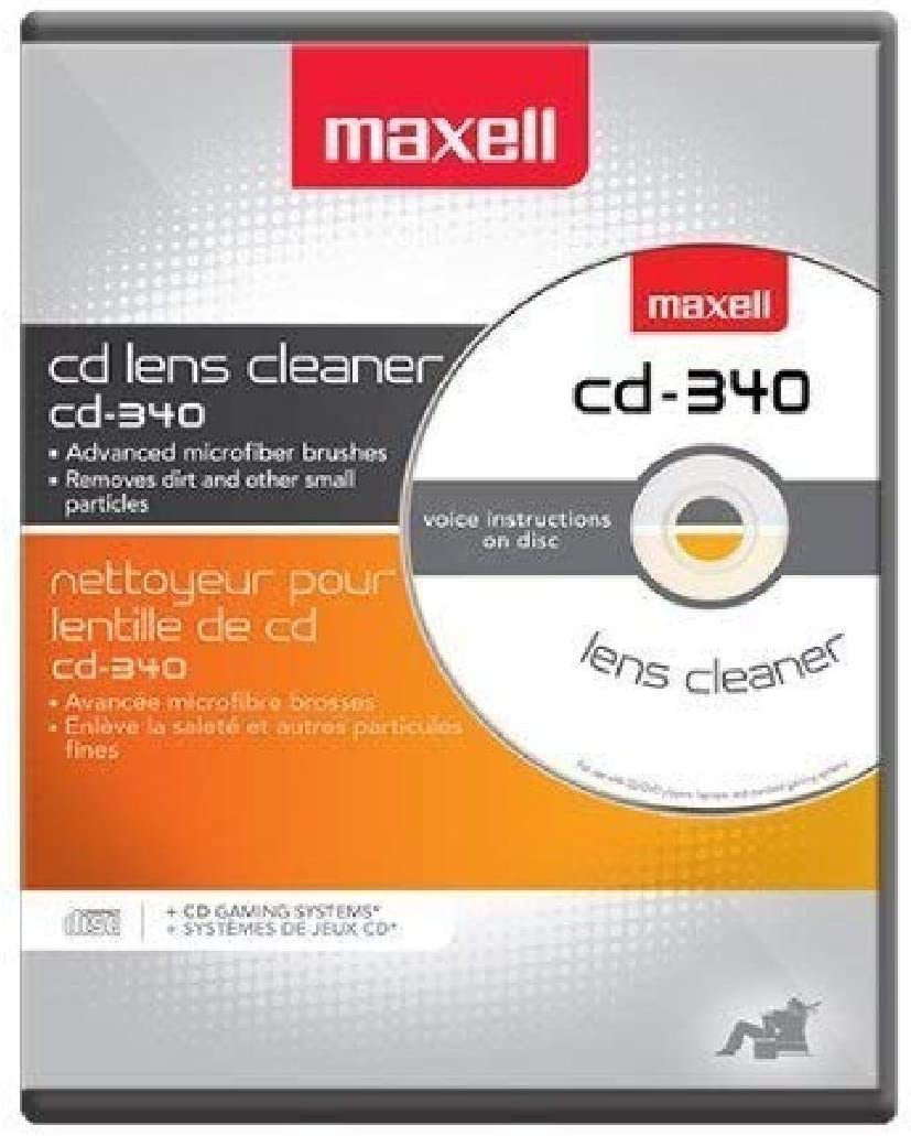 Maxell Safe and Effective Feature CD Player and Game Station Compact Disc Cleaner CD-340 190048 CD/CD-ROM Laser Lens Cleaner: CD Cleaner: Home Audio & Theater