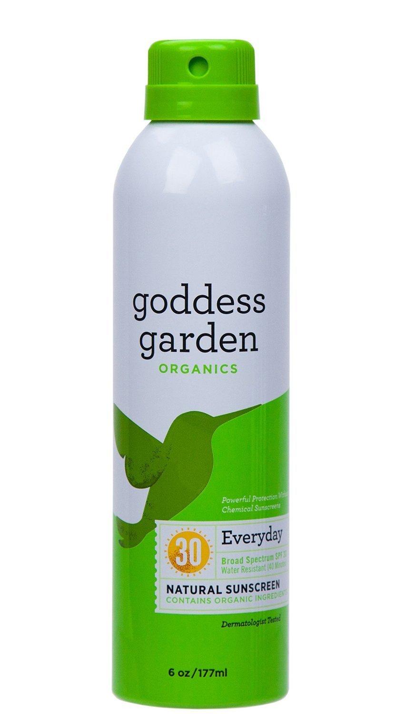 Goddess Garden Sunny Body Natural Sunscreen Continuous SPF 30 Spray, 6.0 Ounce (2 Pack) …
