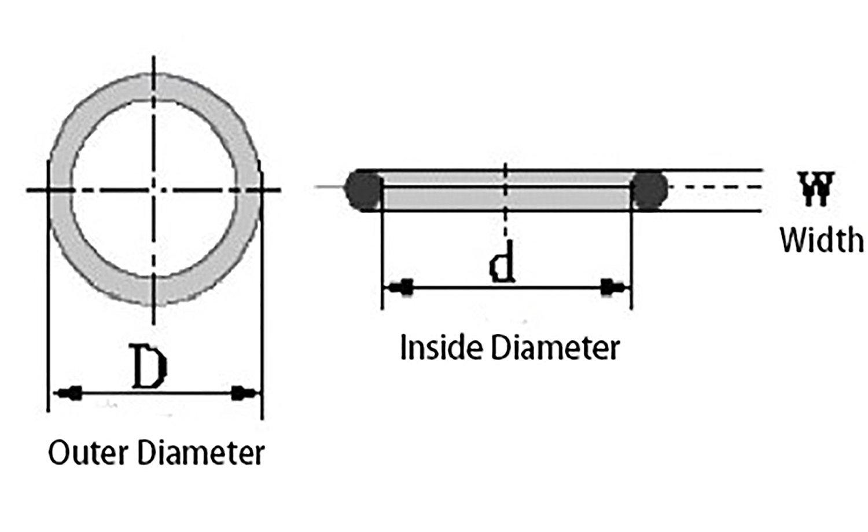 Flyshop Lot de 10 /œillets en caoutchouc noir avec joint torique 1,0 cm OD 0,6 cm ID 0,2 cm Largeur