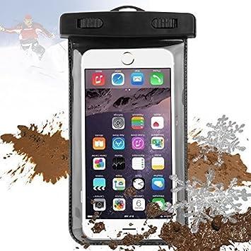 Carcasa Impermeable para Smartphones, isuda Agua Densidad Case Funda Móvil para playa con para iPhone 6S Plus 6 5S 5 Samsung Galaxy S6 Edge S5 S4 Huawei P8 Honor 7 Mate S