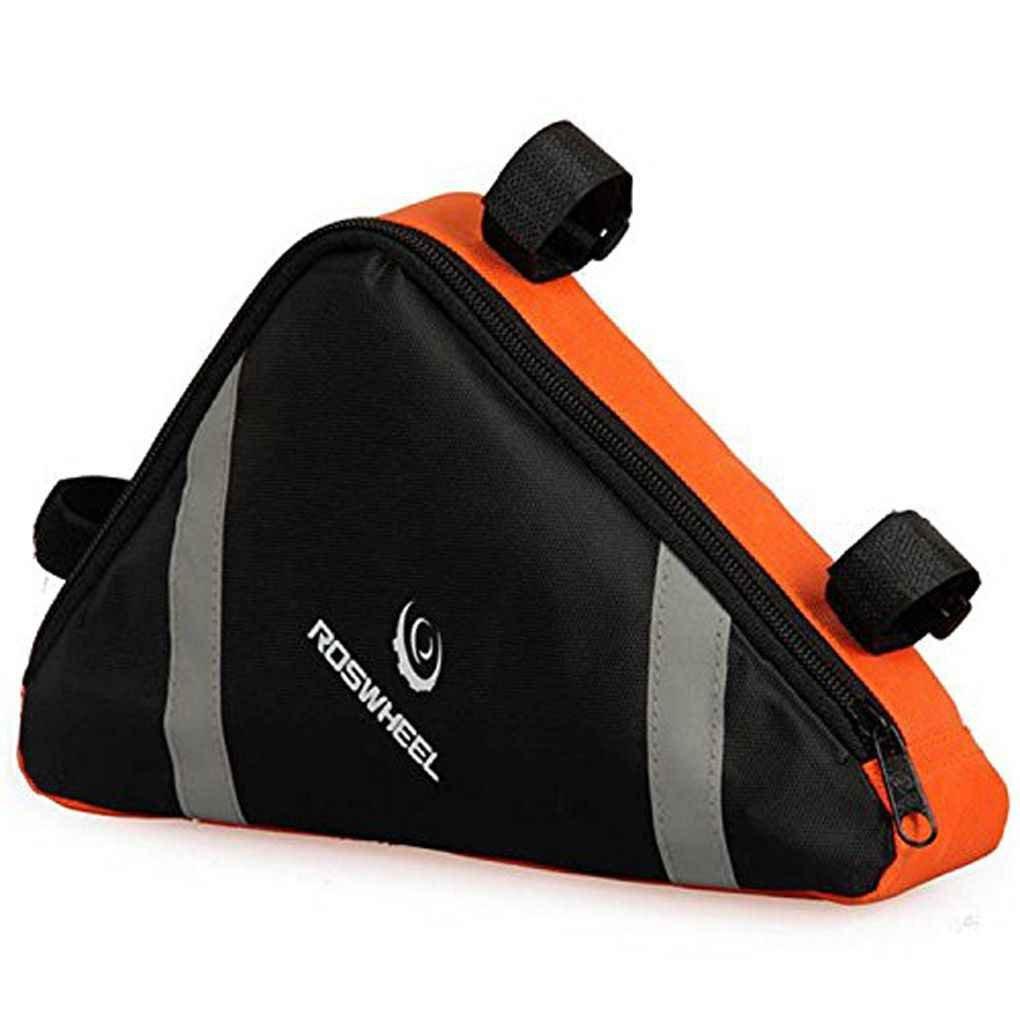 Lorsoul aire libre de la bicicleta del bolso del triángulo delantero Bolsa de sillín superior del marco del tubo de la bolsa