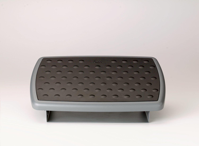 3M FR330 Adjustable Height/Tilt Footrest, Nonskid Platform, 18w x 13d x 4h, Charcoal Gray