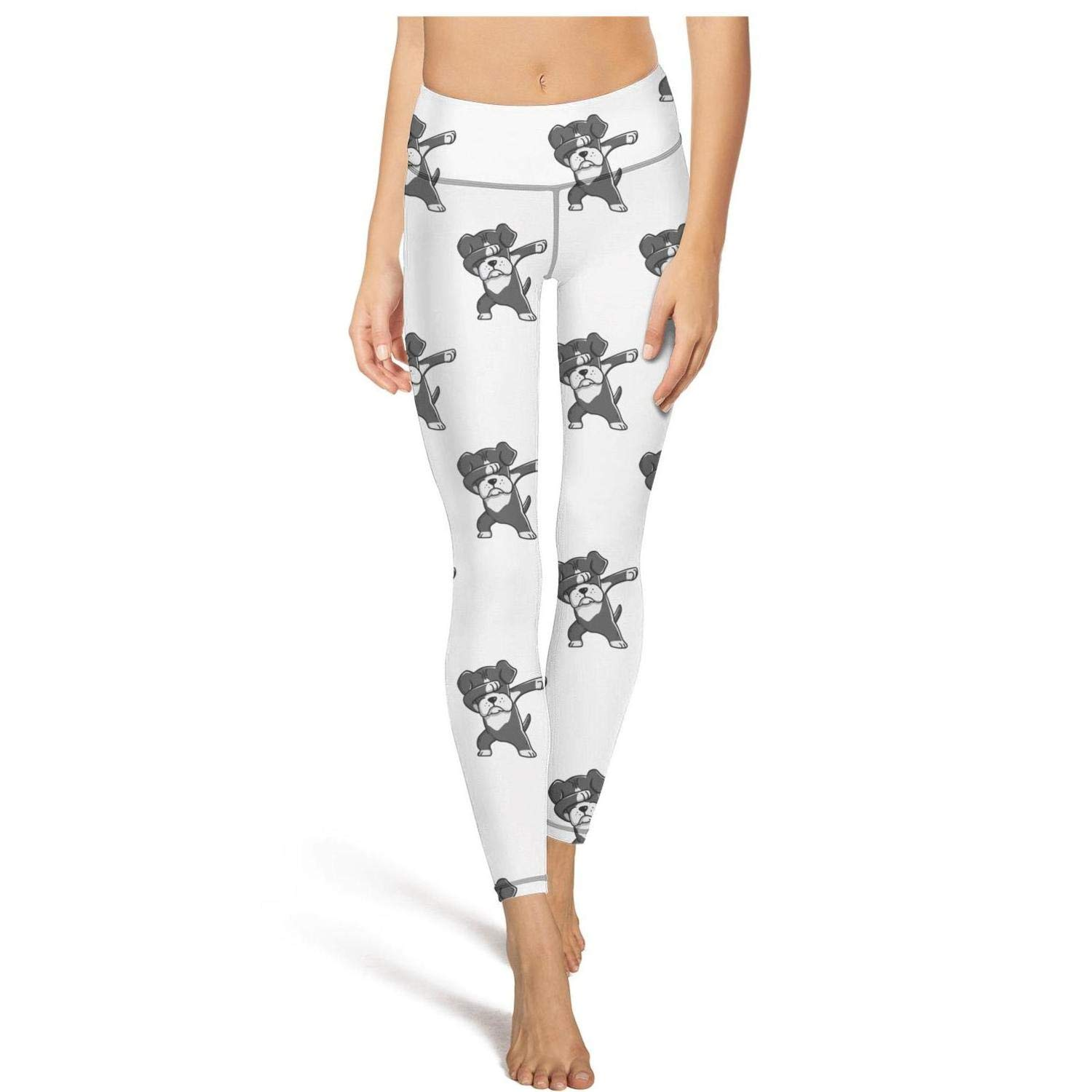 Voslin Cool Galaxy Dog Taco Pizza Womens high Waisted Yoga ...