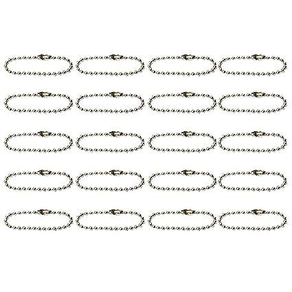 Hilai - Llavero con cadena de bolas (20 unidades, 2,4 x 10 cm)