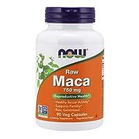 NOW Supplements, Maca (Lepidium meyenii) 750 mg Raw, Reproductive Health*, 90 Veg...