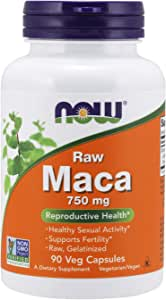 Now Foods Raw Veg Capsules, Maca, 750mg, 90 Capsules