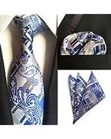 Para hombre formal Premium Tie pañuelo 100% Seda Almohada de algodón Paisley cuadrados de bolsillo boda/Handkercief & Tie conjuntos