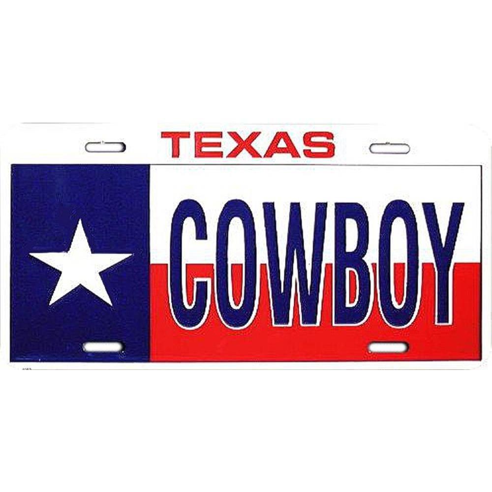 Signs 4 Fun Sltc Texas Cowboy License Plate