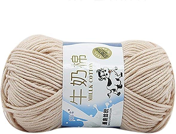 Ovillo de lana para tejer de algodón suave, creativo, 1 pieza, 50 g, tejer a mano de algodón grueso y colorido Colour B: Amazon.es: Hogar
